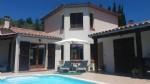 Maison en position dominante, T6 avec garage,piscine sud de limoux