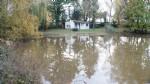 Terrain avec étang et cabanon.