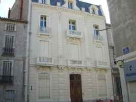 Haussmann Immeuble, centre ville, sud de la france